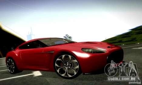 Aston Martin V12 Zagato Final para GTA San Andreas vista inferior