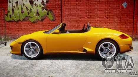 Ruf RK Spyder v0.8Beta para GTA 4 esquerda vista