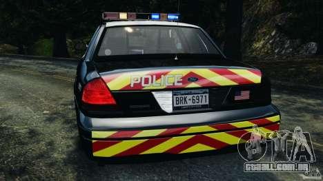 Ford Crown Victoria Police Interceptor 2003 LCPD para GTA 4 vista superior