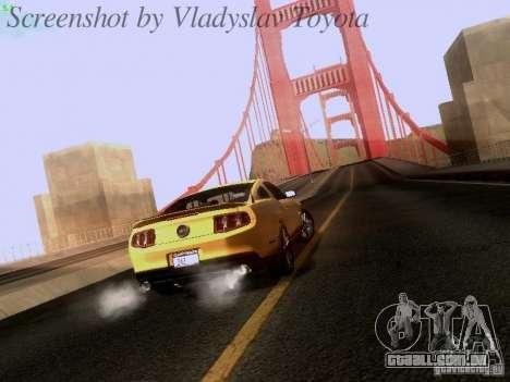 Ford Mustang GT 2011 para GTA San Andreas esquerda vista