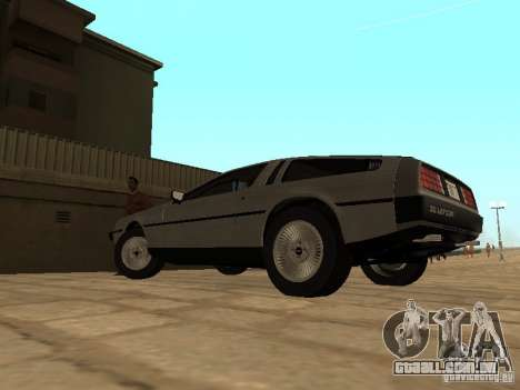 DeLorean DMC-12 1982 para GTA San Andreas esquerda vista
