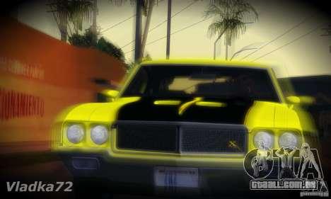 Buick GSX 1970 v1.0 para GTA San Andreas traseira esquerda vista
