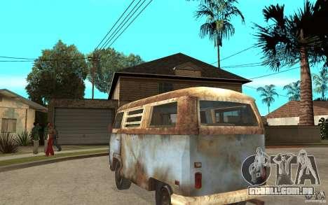 Dharma-Van (VW Typ 2 T2a) para GTA San Andreas traseira esquerda vista