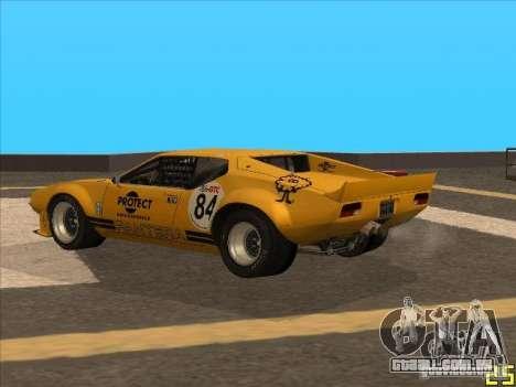1972 DeTomaso Pantera para GTA San Andreas esquerda vista