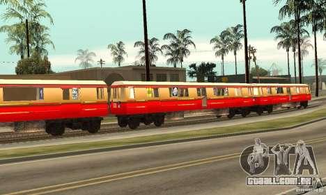 Liberty City Train DB para GTA San Andreas esquerda vista
