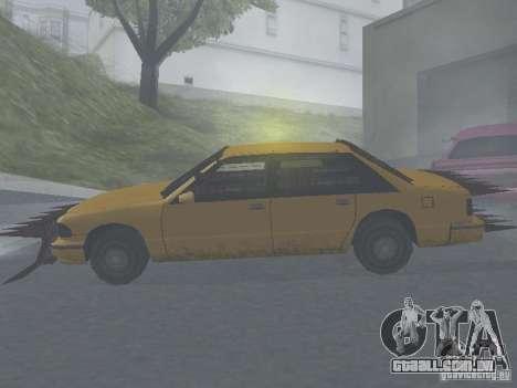 Táxi Zombie para GTA San Andreas traseira esquerda vista