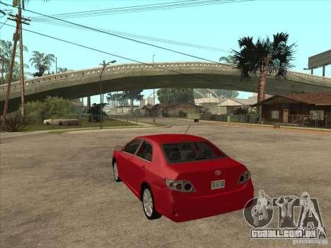 Toyota Corolla 2008 para GTA San Andreas traseira esquerda vista