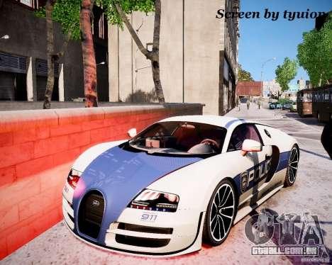 Bugatti Veryon SS COP para GTA 4 vista direita