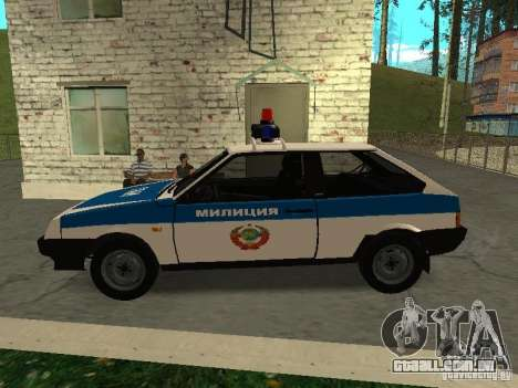 VAZ 2108 polícia para GTA San Andreas esquerda vista