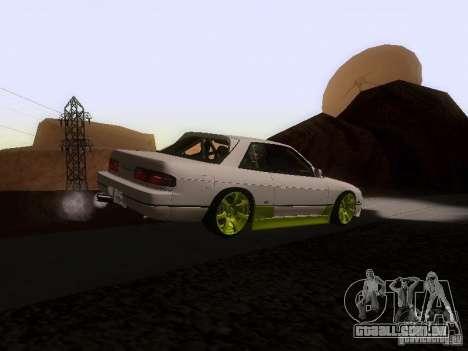 Nissan Silvia S13 Drift Style para GTA San Andreas traseira esquerda vista