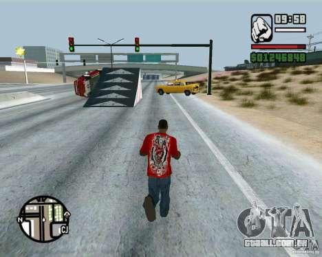 Saltos na auto-estrada em Las Venturase para GTA San Andreas por diante tela