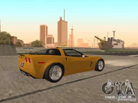Chevrolet Corvette Z06 para GTA San Andreas vista direita
