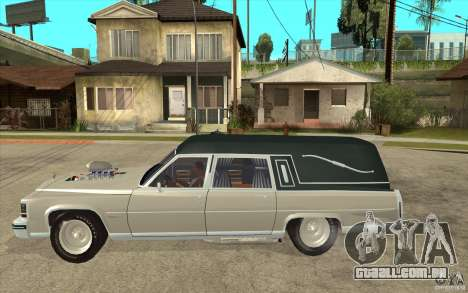 Cadillac Fleetwood 1985 Hearse Tuned para GTA San Andreas esquerda vista