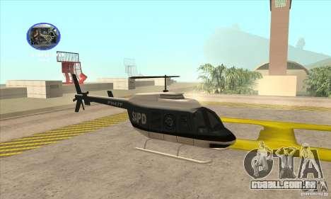 Police Maverick 2 para GTA San Andreas traseira esquerda vista