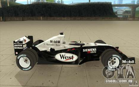 McLaren Mercedes MP 4-19 para GTA San Andreas vista interior