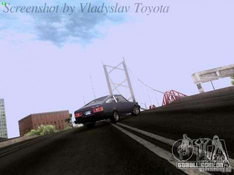 Toyota Corolla TE71 Coupe para GTA San Andreas vista interior