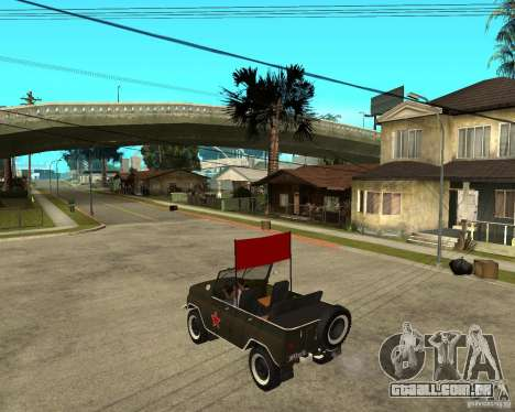 UAZ 469 Parade para GTA San Andreas esquerda vista