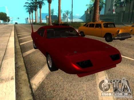 Dodge Charger Daytona Fast & Furious 6 para GTA San Andreas esquerda vista