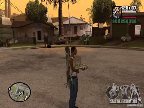 A arma nas costas para GTA San Andreas terceira tela