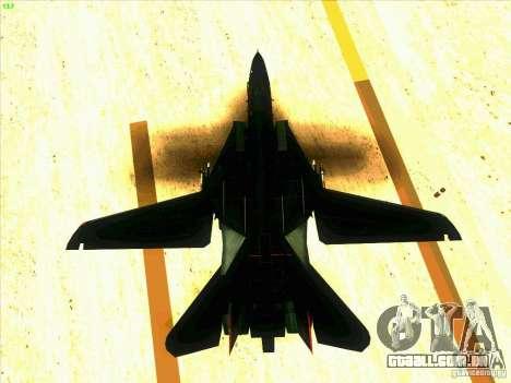 F-14 Tomcat Razgriz para GTA San Andreas vista inferior