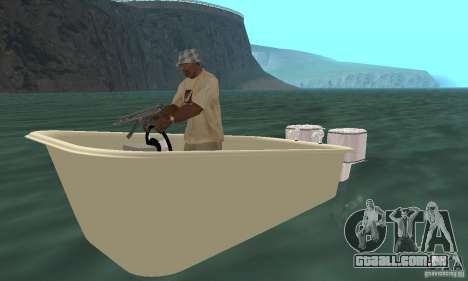 Bathtub Dinghy para GTA San Andreas esquerda vista