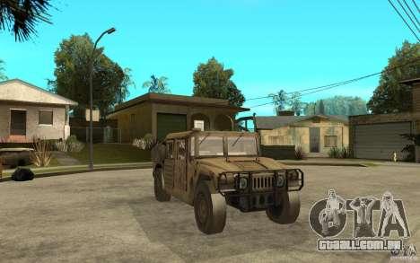 Hummer H1 War Edition para GTA San Andreas vista traseira