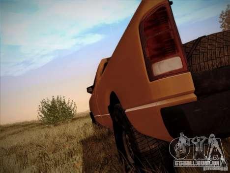 Dodge Ram 1500 4x4 para GTA San Andreas vista traseira