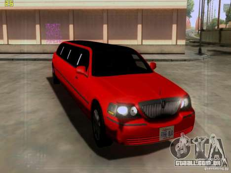 Lincoln Towncar 2010 para GTA San Andreas esquerda vista