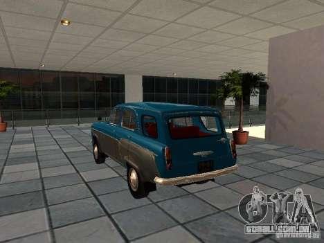 Moskvitch 423 para GTA San Andreas traseira esquerda vista