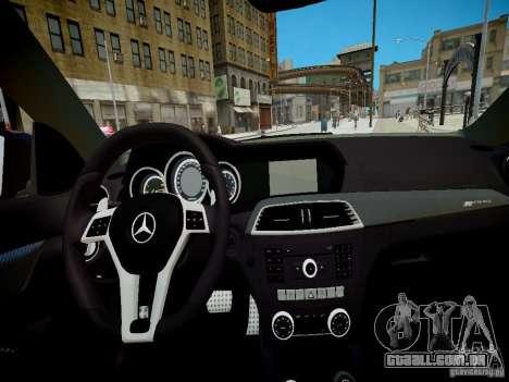 Mercedes-Benz C63 AMG Black Series 2012 v1.0 para GTA 4 vista de volta