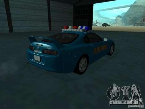 Toyota Supra California State Patrol para GTA San Andreas vista direita
