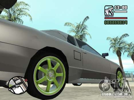 Elegy First Update By reNz para GTA San Andreas esquerda vista