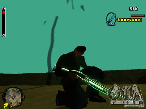 Blue weapons pack para GTA San Andreas segunda tela