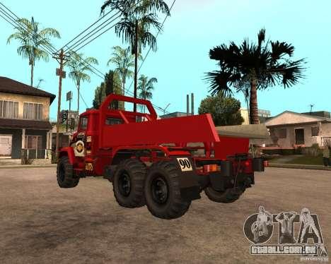 Julgamento KrAZ-6322 para GTA San Andreas vista direita