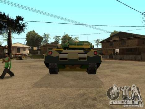 Camuflagem para Rhino para GTA San Andreas traseira esquerda vista