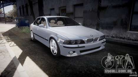 BMW M5 E39 Stock 2003 v3.0 para GTA 4 vista interior