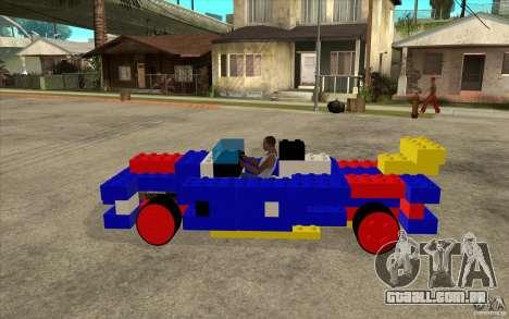 Móveis de LEGO para GTA San Andreas esquerda vista