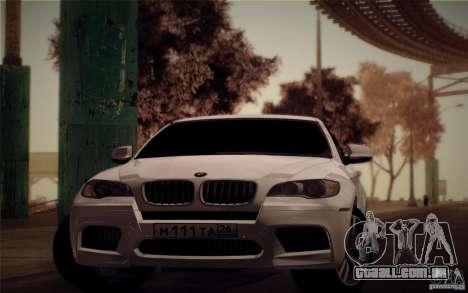 BMW X6M E71 para GTA San Andreas traseira esquerda vista