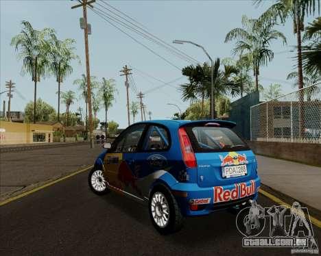 Ford Fiesta ST Rally para GTA San Andreas vista direita