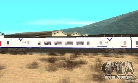 Express Train para GTA San Andreas traseira esquerda vista