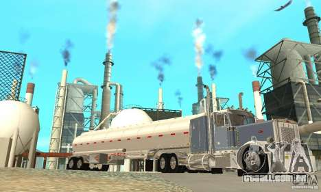 Peterbilt 379 Custom And Tanker Trailer para GTA San Andreas vista inferior