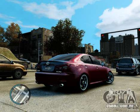 Lexus IS350 2006 v.1.0 para GTA 4 vista interior