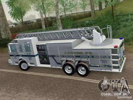 Pierce Puc Aerials. Bone County Fire & Ladder 79 para GTA San Andreas vista traseira