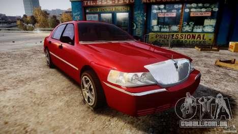 Lincoln Town Car 2003 para GTA 4 vista de volta