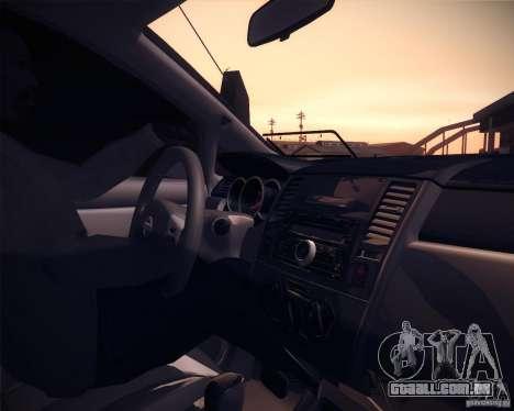 Nissan Versa Tuned para GTA San Andreas vista traseira