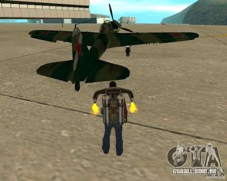 Il-2 m para GTA San Andreas traseira esquerda vista