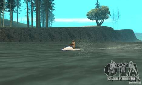VCS Jetski para GTA San Andreas traseira esquerda vista