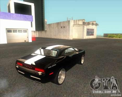 Dodge Challenger Concept para GTA San Andreas traseira esquerda vista