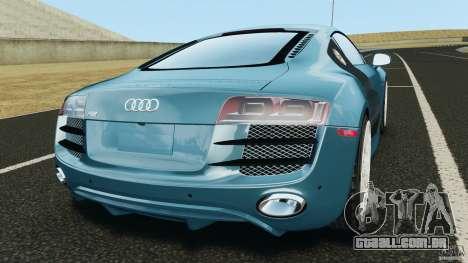Audi R8 5.2 Stock Final para GTA 4 traseira esquerda vista