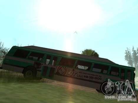 Ônibus do GTA 4 para GTA San Andreas esquerda vista